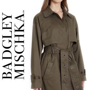 Brooke Cotton Blend Utility Trench Coat